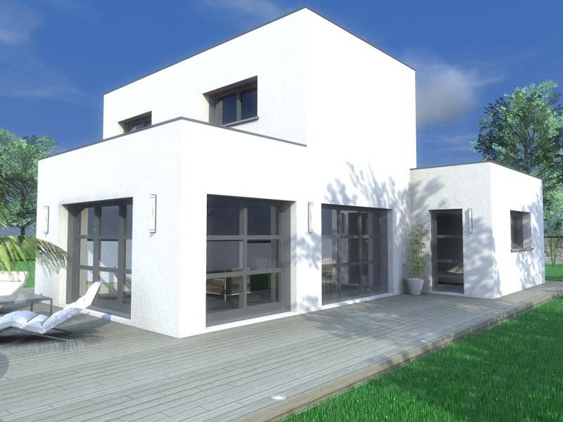 Maisons Contemporaine en  blocs imbriqués