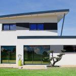 maison contemporaine toiture monopente