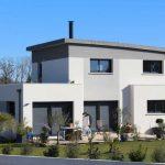 maison contemporaine à toiture cintrée